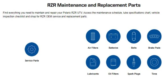 RZR maintenance parts