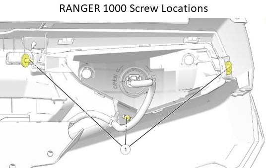 Ranger 1000 headlight screw locations