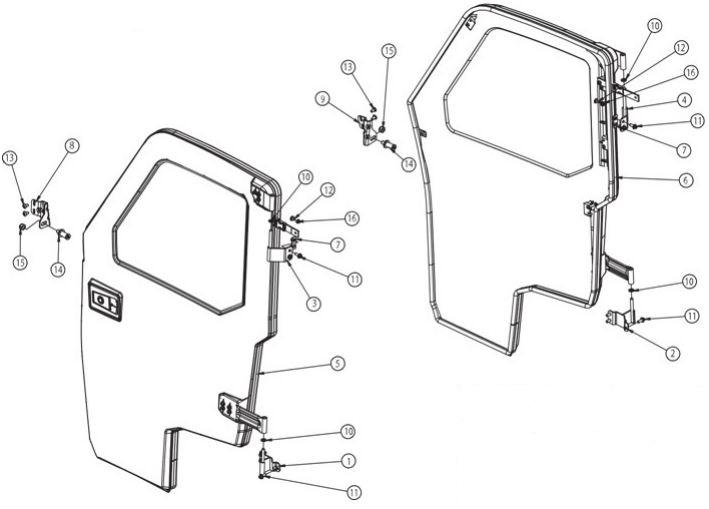 Ranger power window door drawing