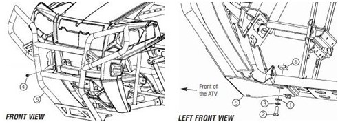 Front Deluxe Brushguard drawing