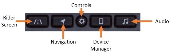 Ride Command buttons