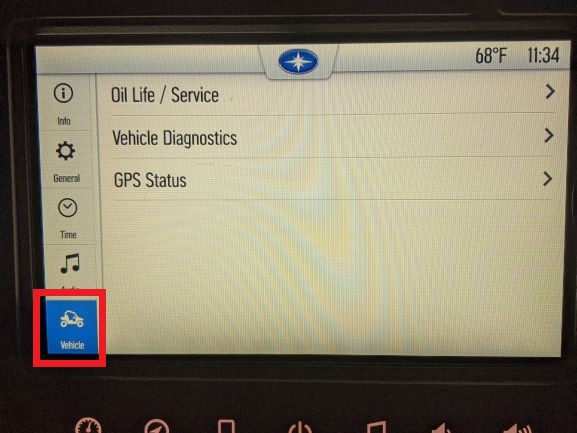 Vehicle settings