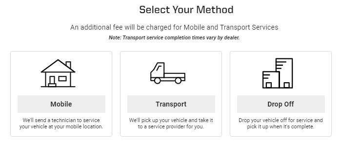 Select service method