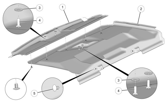 Roof liner kit drawing