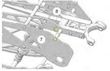 Drive chain tension adjustment diagram