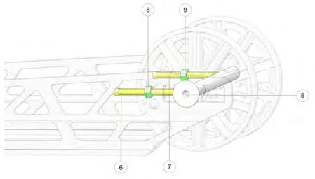 Track alignment adjustment diagram