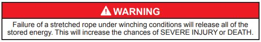 Winch Warning 12