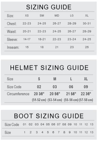 Youth sizes