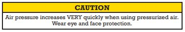 Air caution