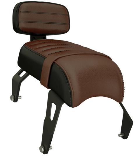 Bobber seat with backrest