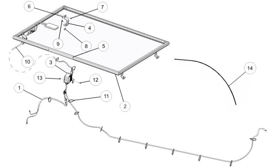 Solar panel parts diagram