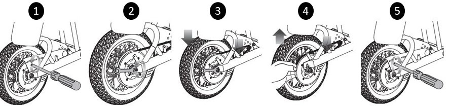 Chain and tire replacement diagram