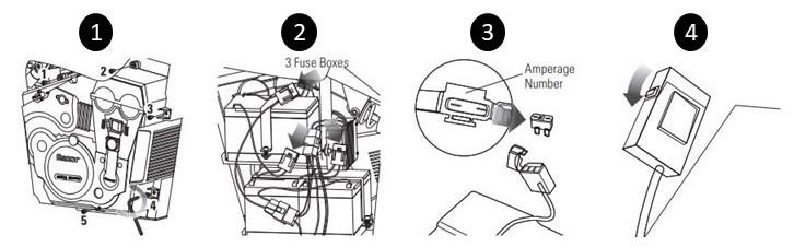 Fuse replacement diagram