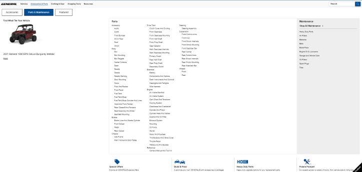 General service parts catalog