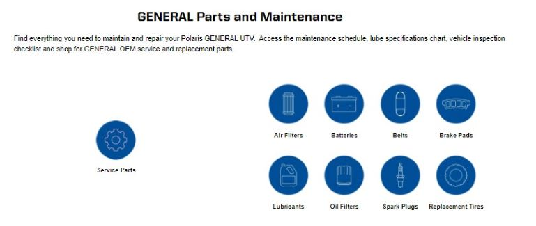 parts and maintenance