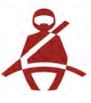 Helmet seat belt indicator