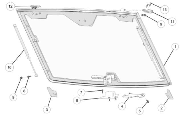 tip-out windshield diagram
