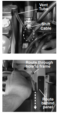 routing vent tubes