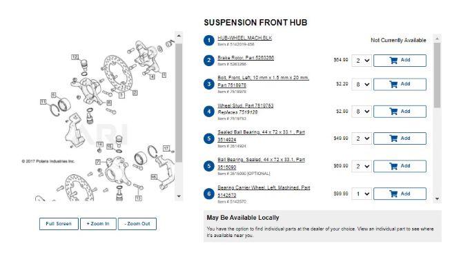 front hub diagram