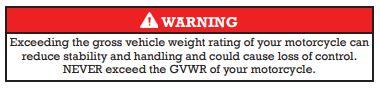 Weight warning